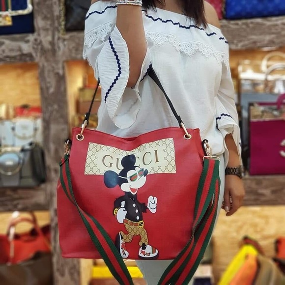 66dc94264 Gucci Bags   Bag W Mickey Mouse Only One Pic Available   Poshmark